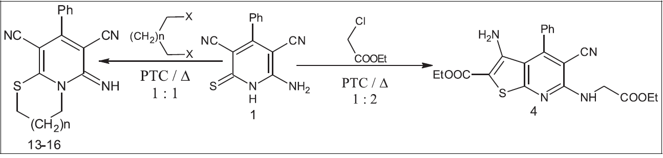 Synthesis of Novel Fused Heterocycles Based on 6-Amino-4-phenyl-2-thioxo-1,2-dihydropyridine-3,5-dicarbonitrile