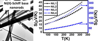 Electric, Thermoelectric and Magnetic Properties of Nickel(II) Imine Nanocomplexes