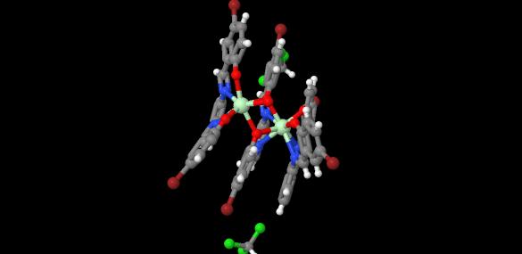 (μ2-2,2'-(1,2-phenylenebis((nitrilo)methylylidene))bis(4-bromophenolato))-bis(2,2'-(1,2-phenylenebis((nitrilo)methylylidene))bis(4-bromophenolato))-aqua-di-neodymium chloroform solvate