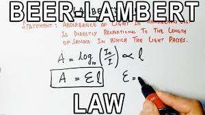 حساب التركيز بقانون لامبرت