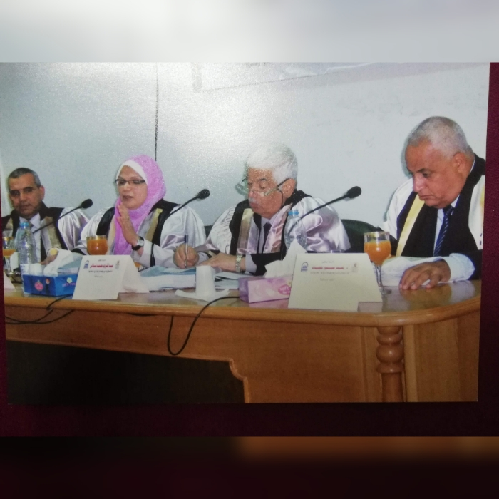 مناقشة رسالة الدكتوراة الخاصة بالباحث/ مرتضى صالح أحمد شارب