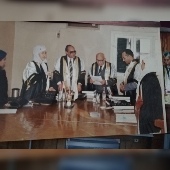 مناقشة رسالة الدكتوراة الخاصة بالباحثة/ بدرية محمد محمد حسانين