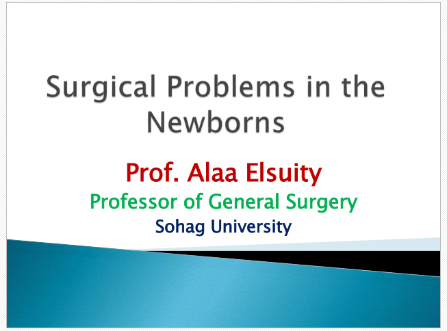 Surgical Problems in the Newborns