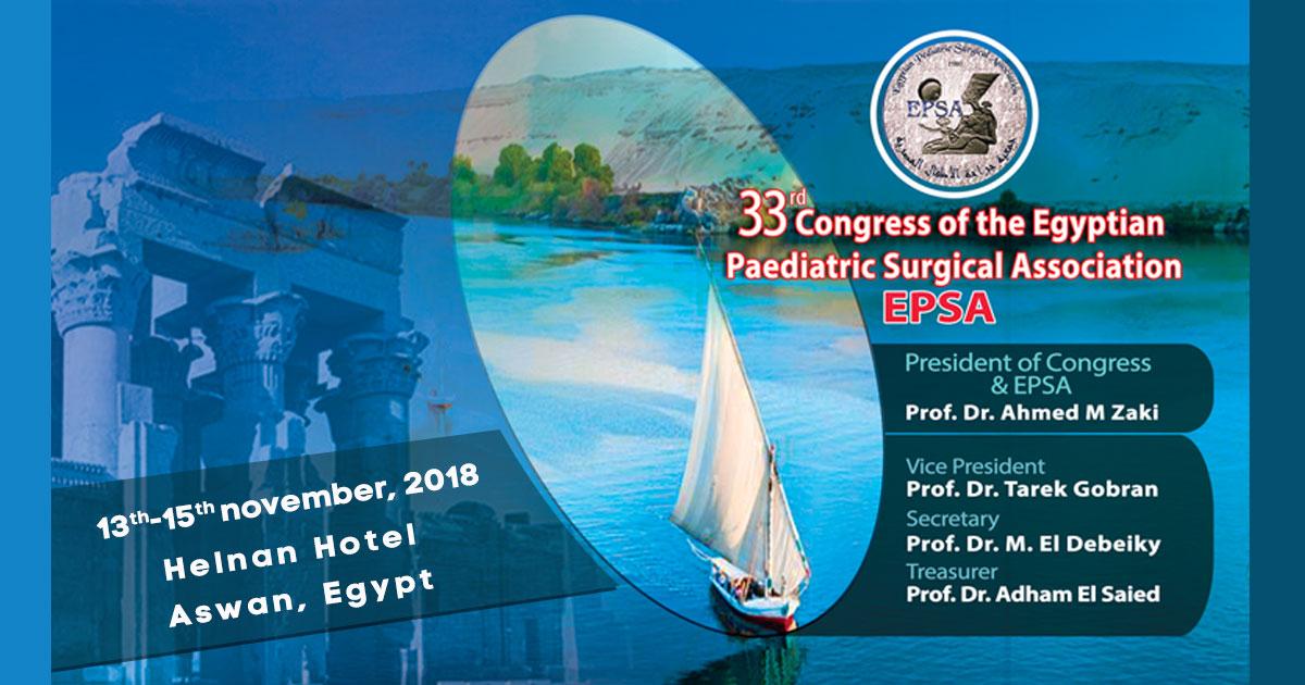 Congress of the Egyptian Paediatric Surgical Association, Aswan, Egypt, 2018
