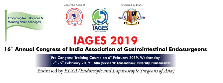 16 th Annual  Congress of India Association of Gastrointestinal Endosurgeons 2019