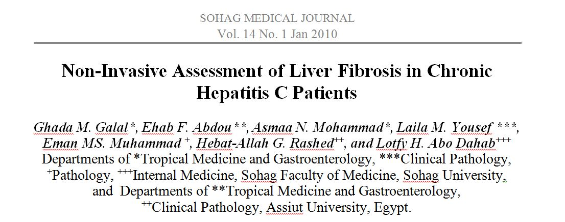 Non-Invasive Assessment of Liver Fibrosis in Chronic Hepatitis C Patients