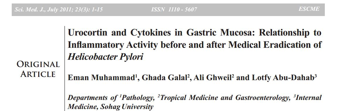 Urocortin and cytokines in gastric mucosa: Relationship to inflammatory activity before and after medical eradication of Helicobacter Pylori