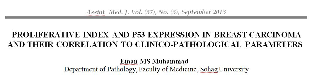 Evaluation of the Proliferation Index and p53 Protein Expression in Preinvasive and Invasive Breast Carcinoma