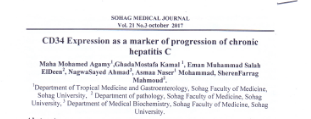 CD34 Expression as a marker of progression of chronic hepatitis C
