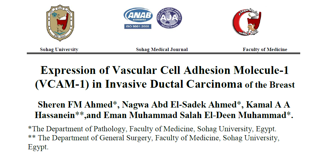 Expression of Vascular Cell Adhesion Molecule-1 (VCAM-1) in Invasive Ductal Carcinoma of the Breast