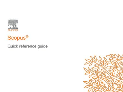 Gain unique data insights with Scopus