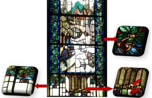 A Study of Degradation Phenomena of the Stained Glass in some Cairo Palaces from 1850 to 1950