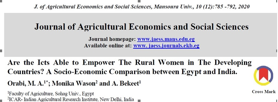 Are the ICTs Able to Empower The Rural Women in The Developing Countries? A Socio-Economic Comparison between Egypt and India.
