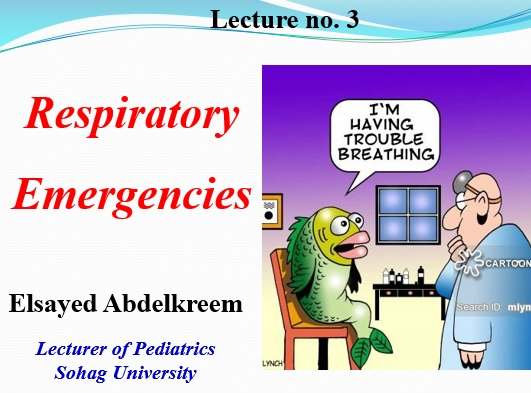For 5th-year undergraduate medical students: View and download lecture 3 of pediatric emergencies course