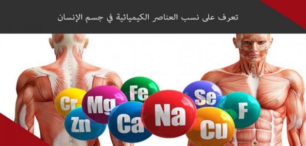 لطلاب الفرقة الثالثة تربية كيمياء وعلوم :العناصر الكيمائية داخل جسم الانسان