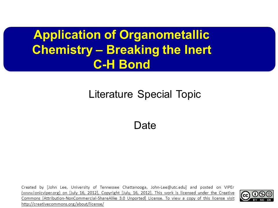 العناوين الرئيسية لمادة الكيمياء عضو معدنية المحاضرة الثامنة للفرقة الرابعة علوم