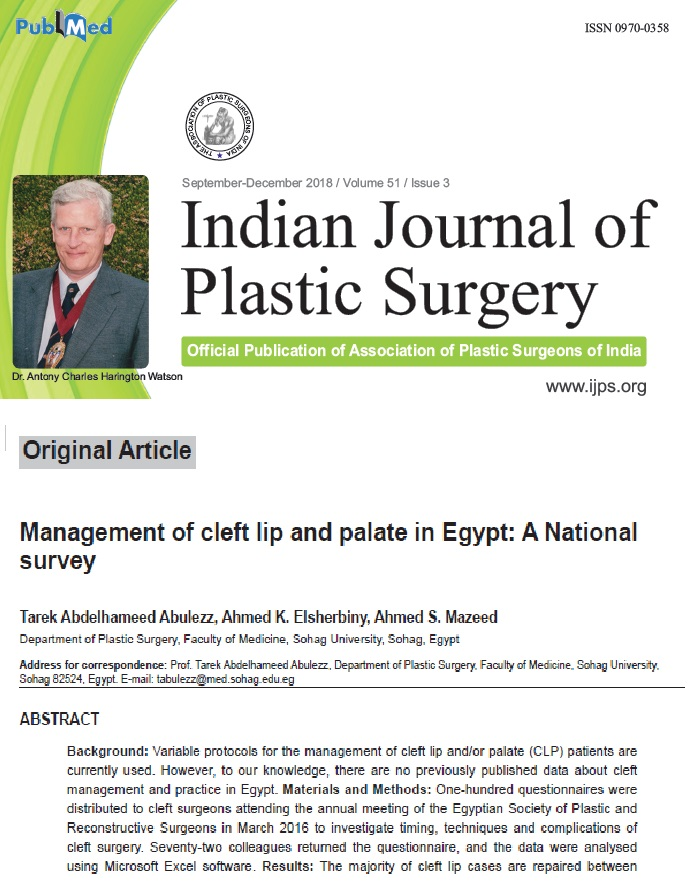 Management of cleft lip and palate in Egypt: A national survey