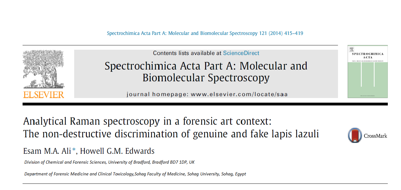 Analytical Raman spectroscopy in a forensic art context: The non-destructive discrimination of genuine and fake lapis lazuli